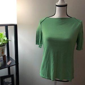 Talbots Green Short Sleeve Shirt